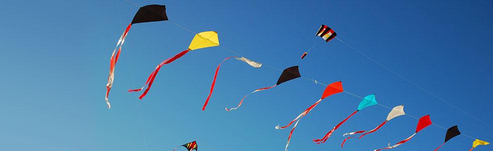 Drachen vor blauem Himmel. Foto: www.dirkpfuhl.de